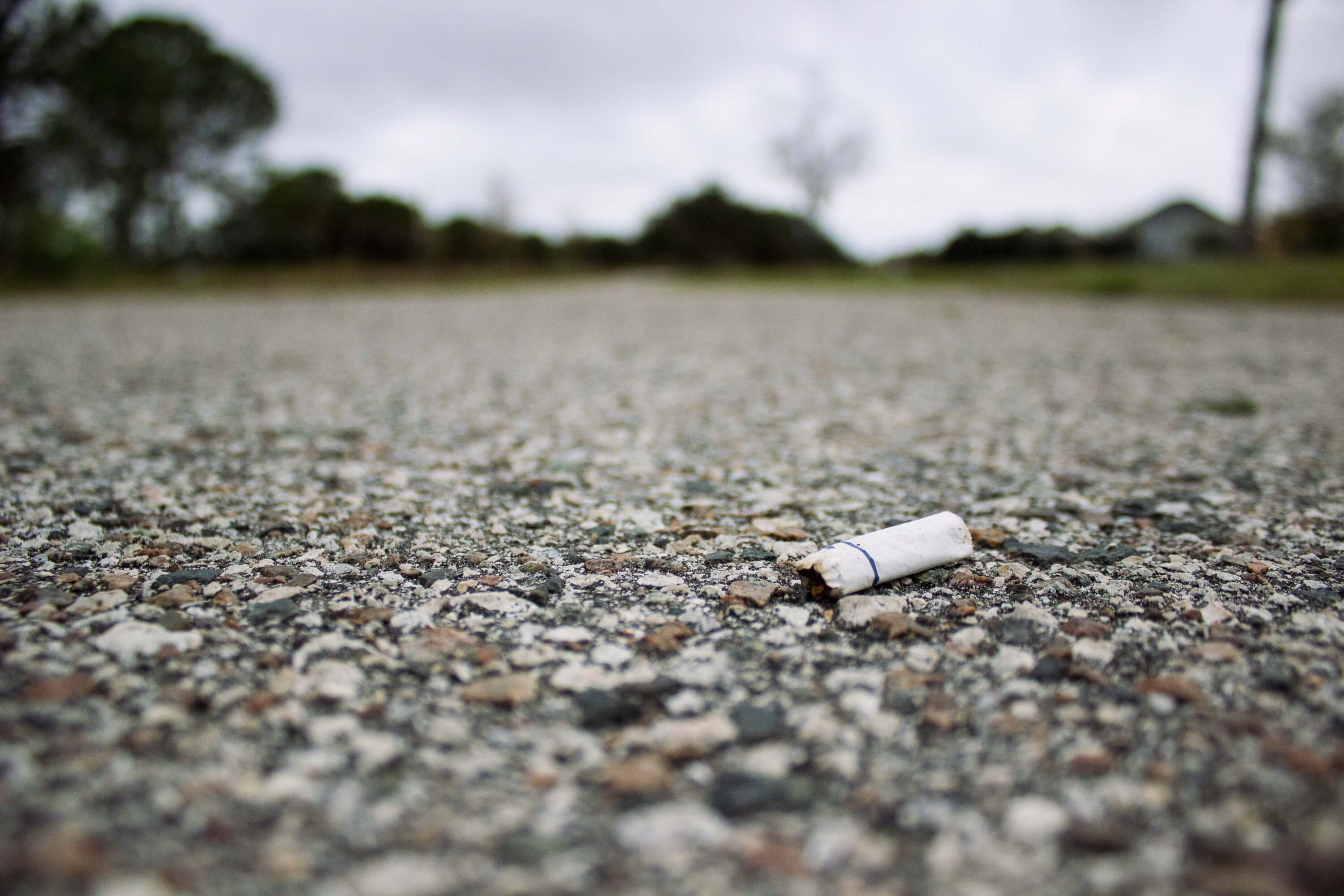 Cigarette butts - the latest ingredient in hot mix asphalt.