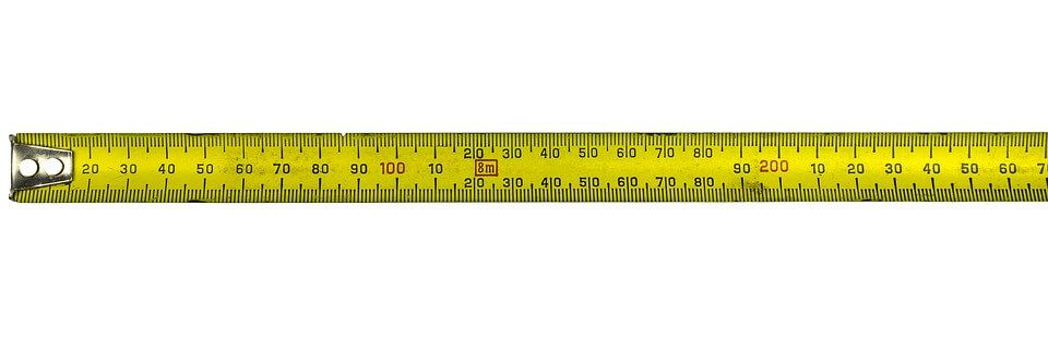 A tape measure, ready for use by a concrete supplier.