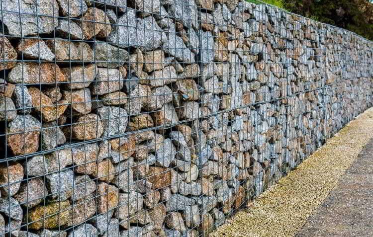 example of gabion stone being used for a project