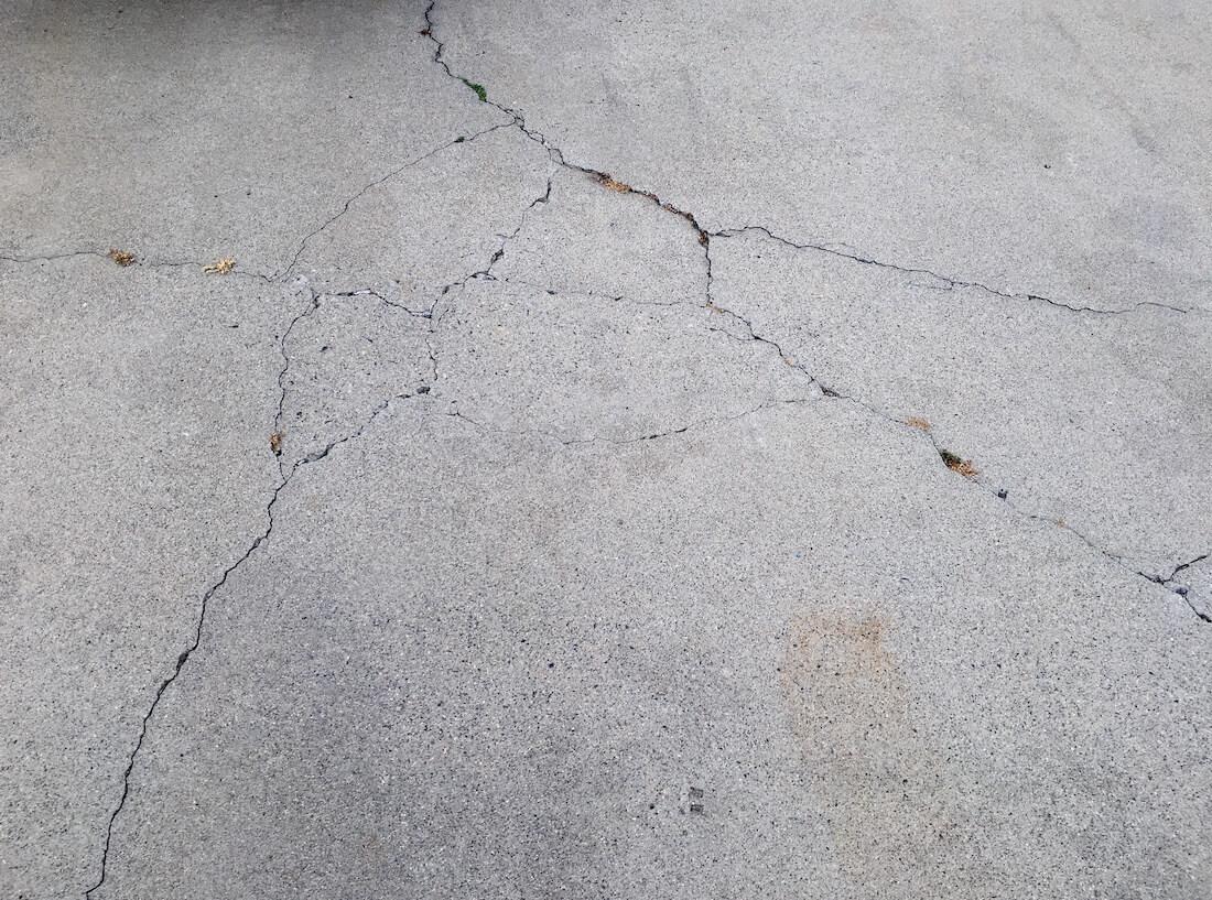 deep cracks in concrete flooring